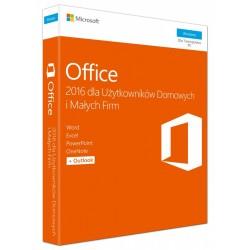 1 x MS Office 2016 dla Małych Firm i Użytkowników Domowych BOX PL 32/64 bit - 2019