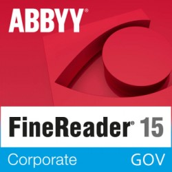 ABBYY FineReader 15 Corporate GOV wersja 15 dla Urzędu Miasta i Gminy - licencja dożywotnia - pojedynczy użytkownik sklep PL